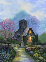 Irish Church & Garden Fine Art Print