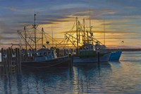 Point Judith Harbor Sunset Fine Art Print