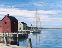 Sail Boat Rockport Fine Art Print