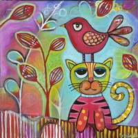 Bird Cat Fine Art Print
