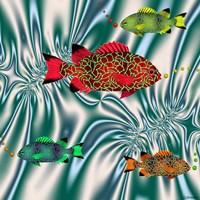 Fishtales VI Framed Print