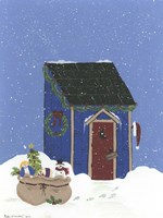 Blue Outhouse Fine Art Print
