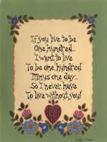 Life's Lessons IV Framed Print