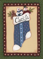 Stocking I Cherish Framed Print
