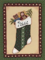 Stocking IV Peace Framed Print
