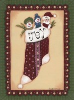 Stocking V Joy Framed Print
