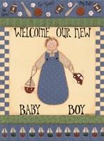 Welcome Baby II Framed Print