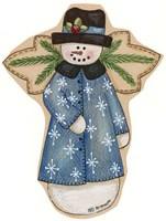 Blue Snowflake Jacket Snowman Fine Art Print
