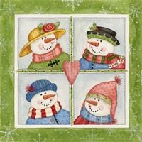 Four Snowmen Fine Art Print