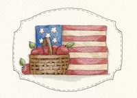 Flag With Apples Fine Art Print