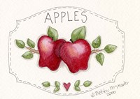 2 Apples On Vine Fine Art Print