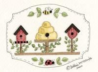 Beehive With Birdhouse Fine Art Print