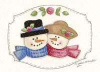 Snow Couple 2 Fine Art Print