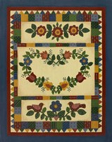 Flower Quilt 1 Framed Print