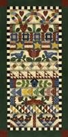 Stack Of Quilts With Dark Green Border 1 Fine Art Print