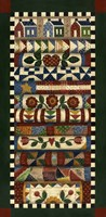 Stack Of Quilts With Dark Green Border 2 Fine Art Print