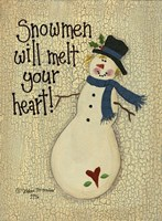 Snowmen Will Melt Your Heart Framed Print