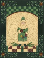 Green Antique Santa Fine Art Print