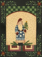 Patriotic Antique Santa Framed Print