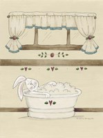 One Bunny In Tub Fine Art Print