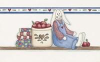 Apple Bunny 2 Framed Print