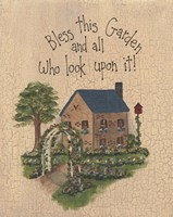 Bless This Garden Fine Art Print