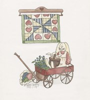 Bunny In Wagon Fine Art Print