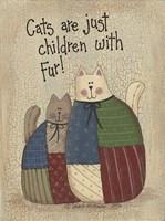 Children With Fur Fine Art Print