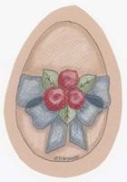 Roses Egg Framed Print