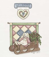 Sled Bunny Fine Art Print