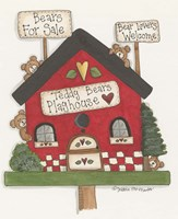 Teddy Bears Playhouse Fine Art Print