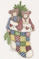 Bear Stocking Framed Print