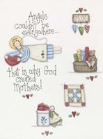 God Created Mothers Fine Art Print