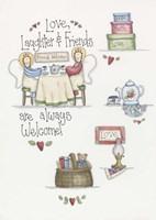 Love Laughter Friends Fine Art Print