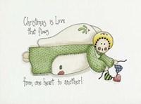 Christmas Is Love Angel Fine Art Print