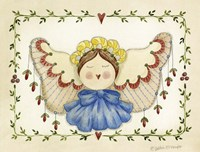 Blue Bow Angel Framed Print