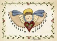 Beaded Angel Framed Print