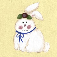 Bunny With Rose Fine Art Print