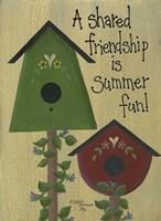 A Shared Friendship Framed Print