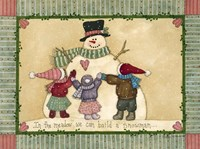 Snowman Hugs Fine Art Print