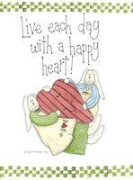 Happy Heart Framed Print