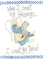 Count My Blessings Framed Print