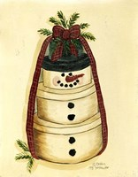 Box Snowman Fine Art Print