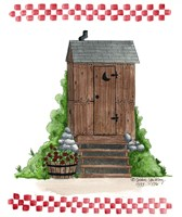 Wooden Outhouse Fine Art Print