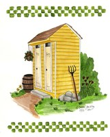 Yellow Double Outhouse Fine Art Print