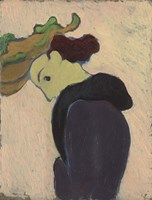 Women Seen in Profile with a Green Hat, c.  1890-189 Fine Art Print
