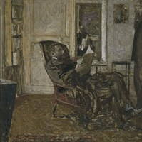 Thadee Natanson, Ker-Xavier Roussel and Vuillard's Reflection in the Mirror, 1907-1908 Fine Art Print