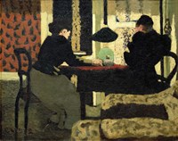 Two Women Under a Lamp, 1892 Fine Art Print