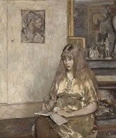 Portrait of Genevieve Bernheim de Villers (1907-1936) Fine Art Print