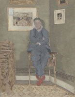 Portrait of Felix Vallotton (1865-1925) Fine Art Print
